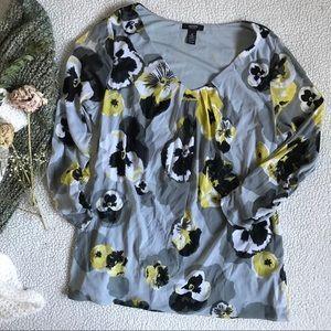 Alfani Floral Long Sleeve Blouse Sz 1X